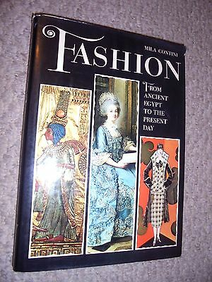 FASHION-FROM ANCIENT EGYPT TO PRESENT DAY-CONTINI-FINE CONDITION-HARDCOVER WITH
