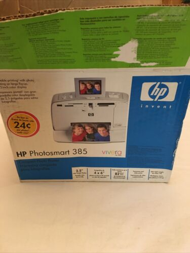 HP Photosmart 385 Printer W/ Box and Accessories. Photosmart