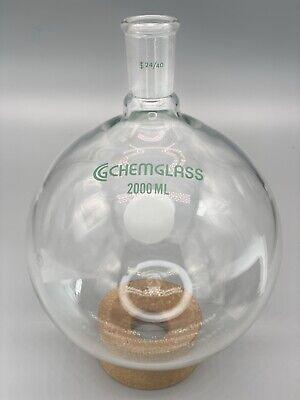 Chemglass Cg-1506-25 2000ml Heavy Wall Round Bottom Boiling Flask Rbf 2440