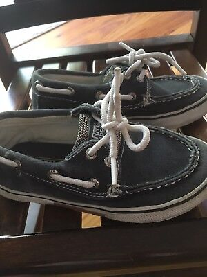 REDUCED!!!!! SALE!! EUC Little Boys Sperry Top-Sider Size 11.5 Blue - Boat Shoes