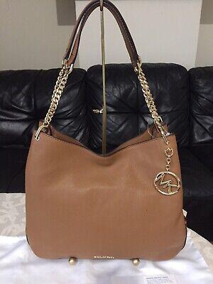 """Michael Kors """"Lillie""""Large Leather Shoulder Bag Handbag, Acorn, Used Once,RRP398"""