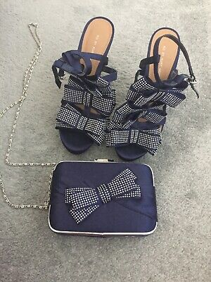 Navy Shoes And Matching Bag Size 5