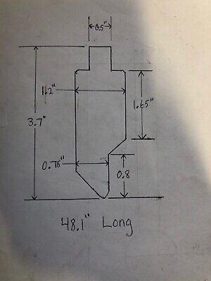 Press Brake Upper V Die 48.1 Niagra Wilson Di Acro Amada Chicago 1r351