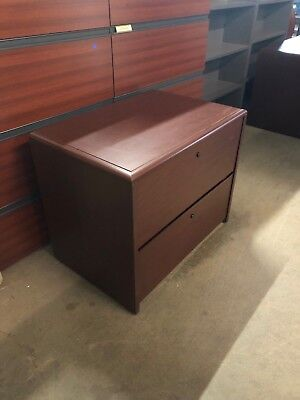 2dr 36w Lateral File Cabinet By Kimball Office Furniture In Mahogany Laminate