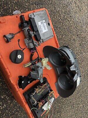 2008 SEAT IBIZA 1.4 PETROL LOCK SET AND ECU KIT Clocks Ignition Complete Kit