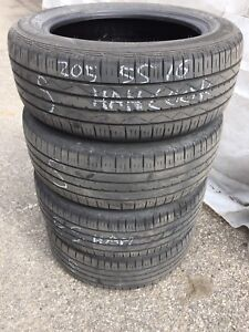 Summer tires, good condition.205-55-16 & 225-65-17