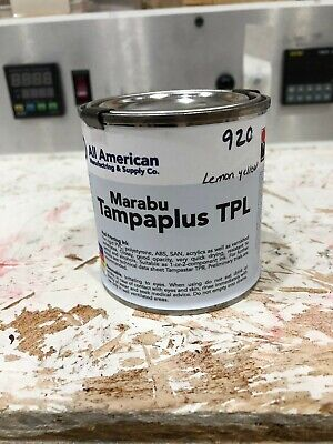 Marabu Tampaplus Tpl Pad Printing Ink 920 Lemon Yellow - 8oz - 1 Or 2 Component