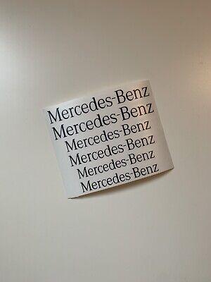 6x Mercedes-Benz Bremssattel Aufkleber Freie Farbauswahl