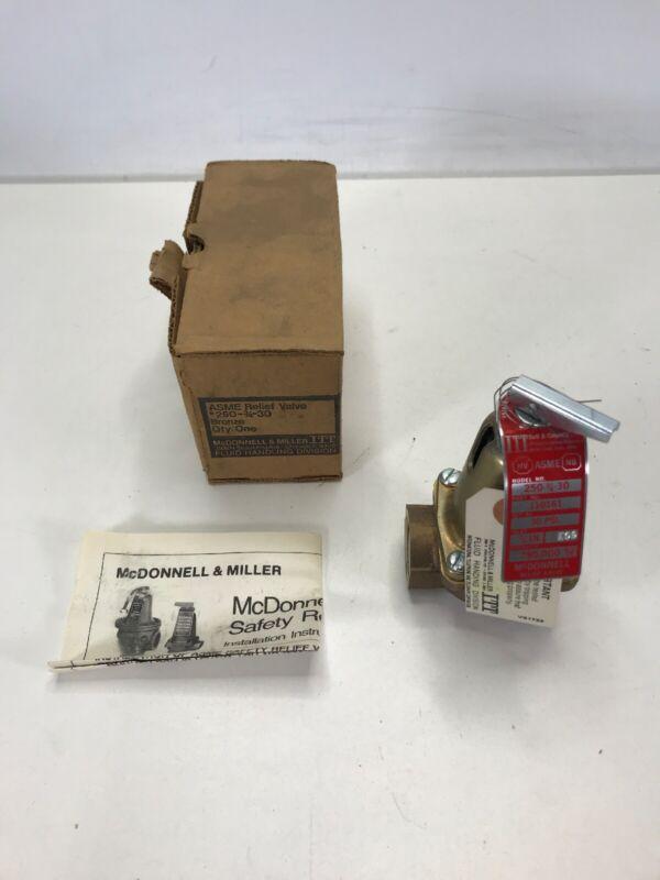 ITT McDonnell & Miller 250-3/4-30 Relief Valve Model  NOS