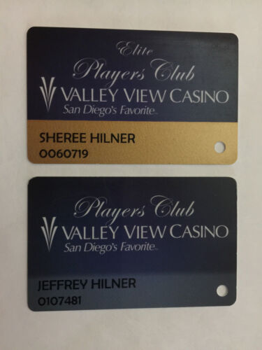 2- Players Slot Club Rewards Cards Valley View Casino & Hotel common & Elite CA