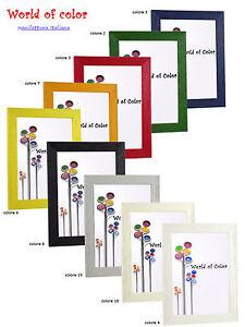 Cornice legno da appendere 740 cornici colorate da for Portaritratti legno