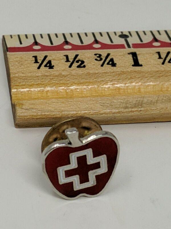 American Red Cross ARC Pin Apple