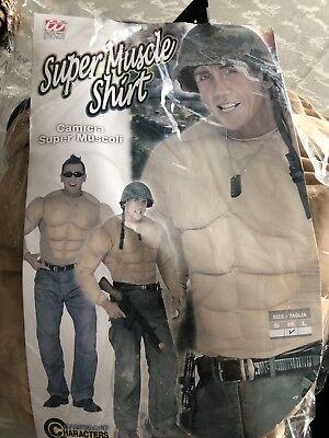Muskelshirt Muscle Shirt Karneval Junggesellenabschied Soldat M Hero - Tarzan Kostüm