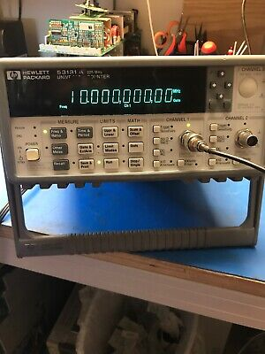 Hpagilent 53131a 225 Mhz Universal Frequency Countertimer Opt 01 Tested