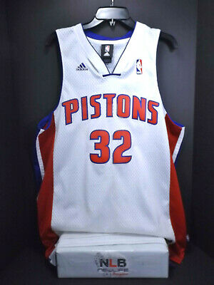 Adidas NBA Hamilton 32 Detroit Pistons White Jersey Men's Size Medium