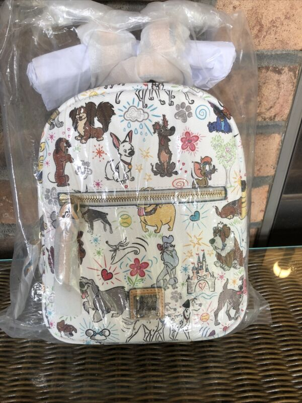 NWT Dooney & Bourke Disney Dogs Sketch Paws Mini Backpack