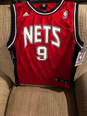 YI JIANLIAN New Jersey Nets Adidas NBA Authentic Jersey Red Youth Medium New