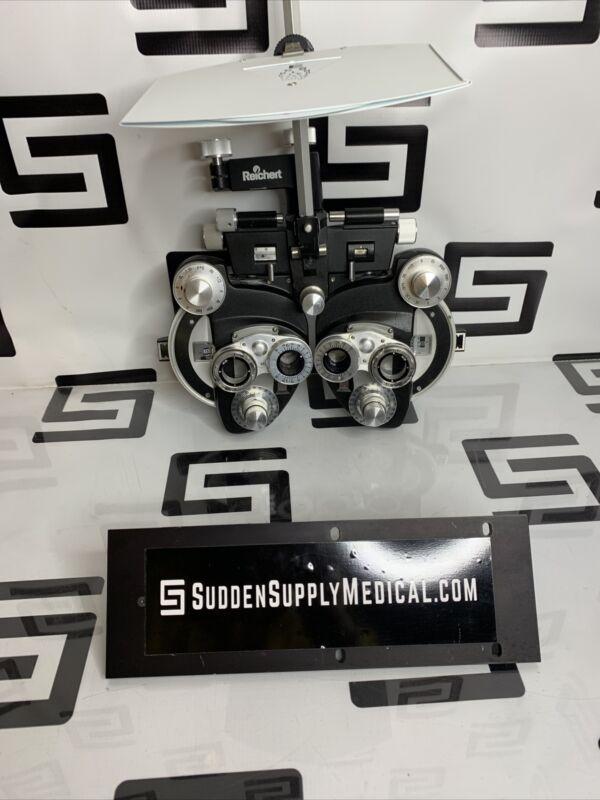 Leica Reichert 11625B Cylinder Phoroptor Refractor Black Phoropter & Chart 11625