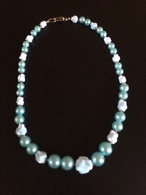 Vintage Blue Beaded Chocker Necklace  for sale  Shipping to South Africa