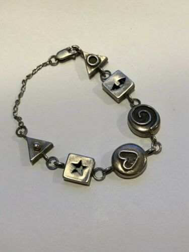 Vintage Sterling Abstract Bracelet with Clasp