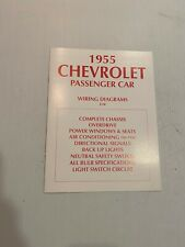 1955 4 Page Wiring Diagram Booklet Manual Book Chevrolet ...