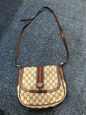 Gucci Vintage Authentic Monogram Stripe Crossbody FREE SHIPPING