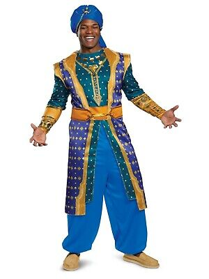 2019 Movie Costumes (Disney's Aladdin - 2019 Movie - Genie Adult Deluxe Costume)