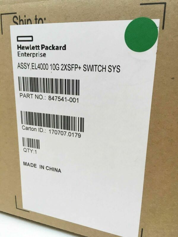 HPE 847541-001 El4000 10G 2XSFP+ Switch System New in Box.