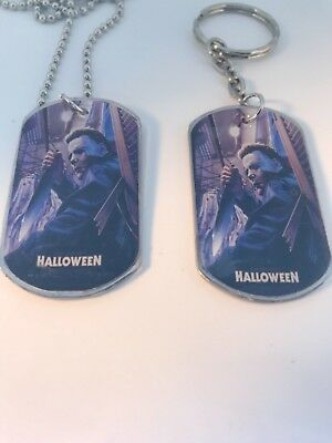 MICHAEL MYERS HORROR DOG TAG NECKLACE OR KEYCHAIN..YOU CHOOSE L@@K - Dog Tag Keychain