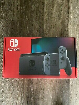 Nintendo Switch V2 Console with Gray Joy-Con Brand New Grey IN HAND SHIPS TODAY