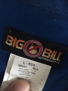 Fire rated coveralls size large