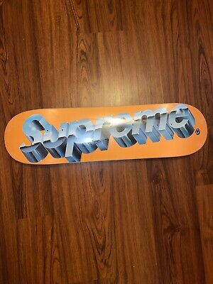 Brand New: Supreme Chrome Logo Skateboard Deck - Orange