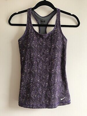 NIKE dri fit women purple racer back vest tank top - SIZE XS