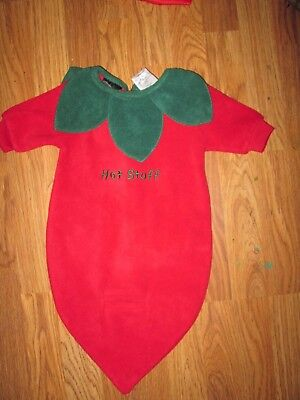 Boys Girls plush RED HOT CHILI PEPPER Halloween Costume  baby infant 0 - 3 month - Baby Boy Halloween Costumes 0-3 Months