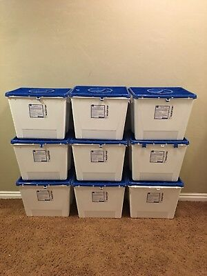 Case Of 9 Medline 8 Gallon Sharps Disposal Non Hazardous Pharmaceutical Bins New