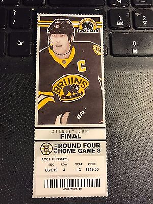 2011 BOSTON BRUINS VS VANCOUVER CANUCKS TICKET STUB STANLEY CUP FINALS GAME 6