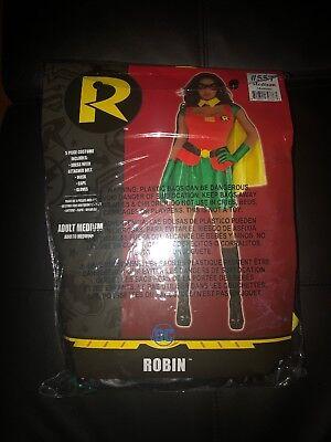 COSTUMES USA WOMEN'S DC ROBIN 5 PIECE COSTUME RED/GREEN/YELLOW MEDIUM NWT (Robin Costumes Women)