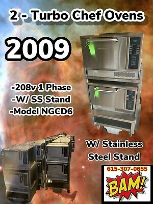 2009 Set Of 2 Turbochef Tornado Ngc Convection Oven W Stand On Wheels- Works