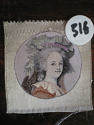 Very Rare Silk Tisse Medallion Woman 316