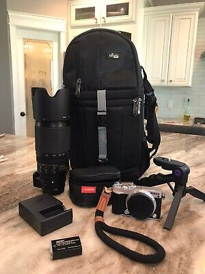 Nikon 1 J5 Camera Plus Nikon Lens 70-300mm 1:4.5-5.6 ED Plus Extras