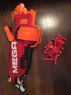 Mega Mastodon Nerf N-Strike working with batteries+lot of Nerf Darts