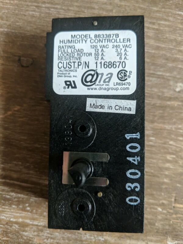 Humidity Controller Model Number 883387B