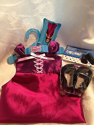 """Springfield Doll Clothes-Purple Gown & Black shoes fits American Girl/18"""" doll"""
