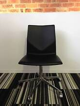Office Chair - Four Cast XL Black Leather Fortitude Valley Brisbane North East Preview