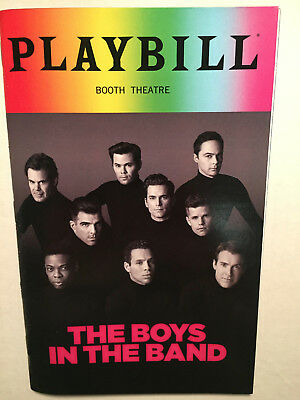 BOYS IN THE BAND PRIDE PLAYBILL JUNE 2018 Jim Parsons Matt Bomer opening night