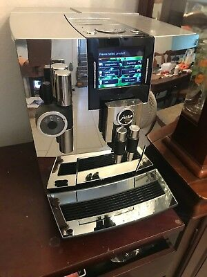 Jura J90 Reflex Coffee Machine Brilliant CHROME Espresso clean, perfect