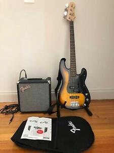 Squier Affinity PJ Bass Guitar & Fender Rumble 15 Watts Amplifier Pack