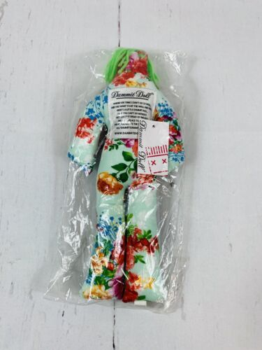 Dammit Doll Original Stress Relief Doll 12 Pink Green Floral Flowers - $9.99