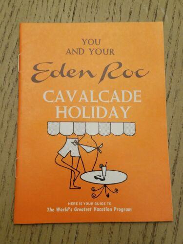 VTG 1960s Eden Roc Hotel Miami Beach Florida Guest Info Brochure Guide Deauville