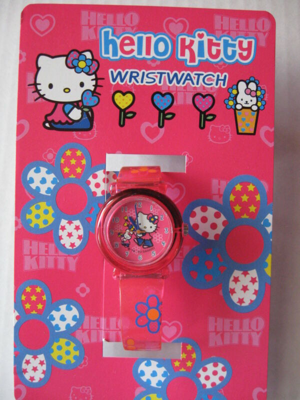 Sanrio Hello Kitty Wrist  Watch FLOWER Collectible Vintage 1976, 2003 NEW